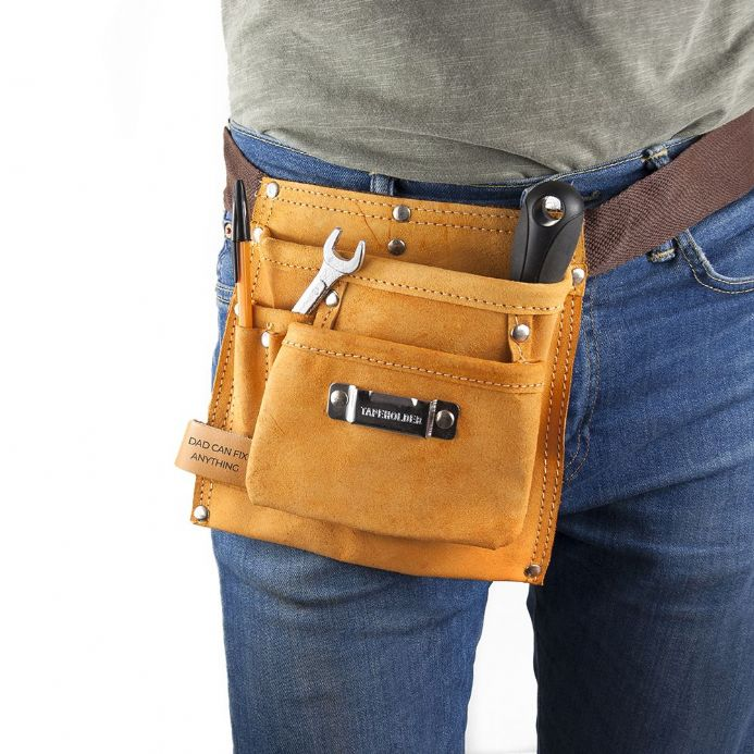 Personalised 6-pocket Leather Tool Belt | Personalised Gifts For Him | The Present Season